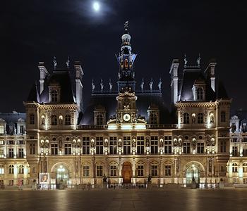 hotel de ville, city hall in paris