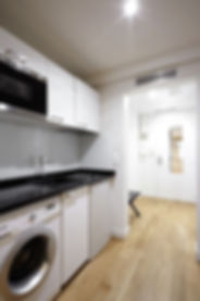 Kitchen | Quiet serviced short term studio rental | Apartments du Louvre