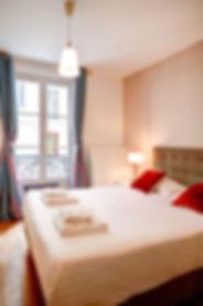 Chambre Grand appartement 3 chambres courte durée   Apartements du Louvre