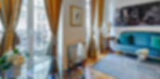 Living Room | Large serviced 2 bedroom vacation apartment | Apartments du Louvre
