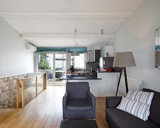 Salón | Excepcional ático dúplex con 2 terrazas | Apartments du Louvre Saint Honoré