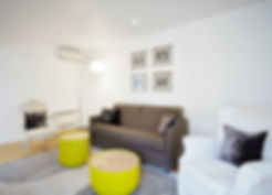 Living Room | Rooftop 1 bedroorm short stay apartment  | Apartments du Louvre