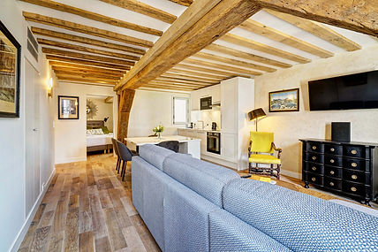 Living Room | 2 bedroom short stay apartment in Paris | Apartments du Louvre