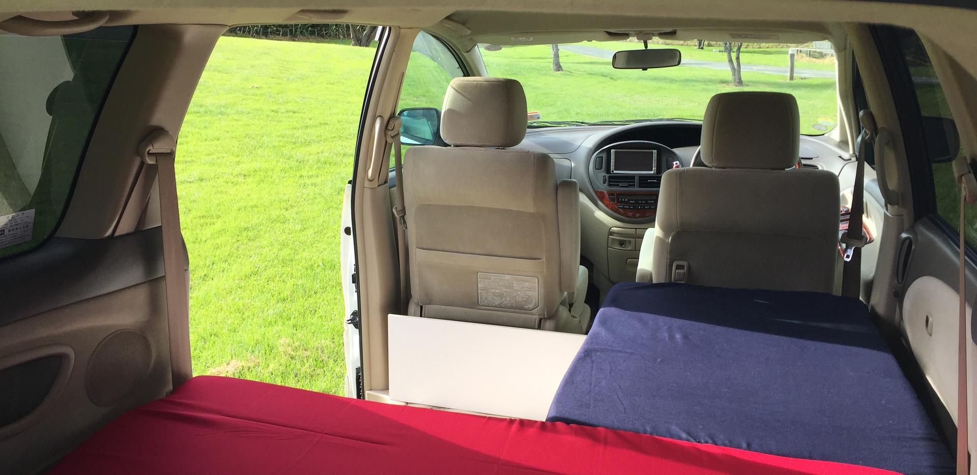Inside campervan - day time