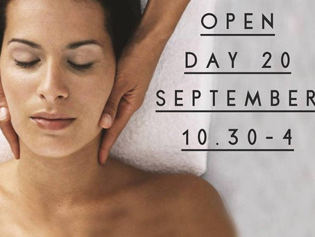 Open Day: 20th September 2018