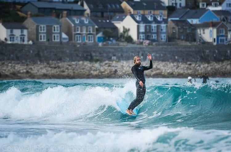 Surfing Sennen Beach