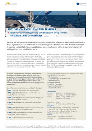 15. bis 21. August 2021: Exklusives IntuVision Segelseminar, Kroatien