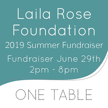 2019 Summer Fundraiser Table Reservation
