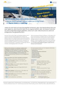 IntuVision Segelseminar Verschiebung für 2022