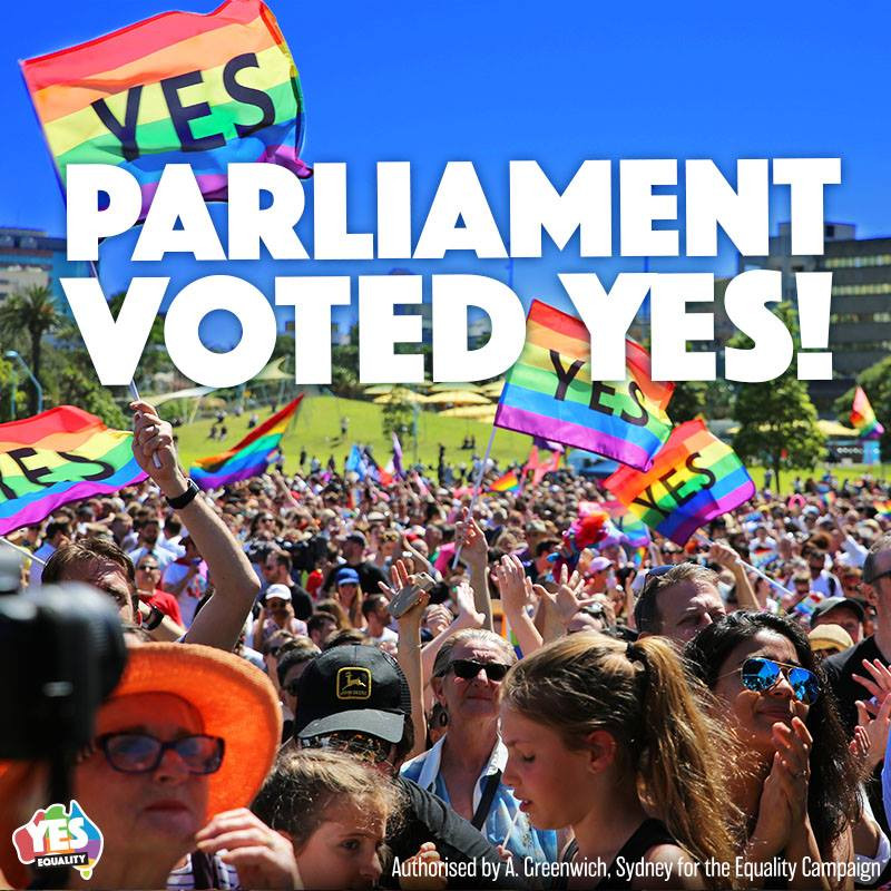 Australia Voted YES for Marriage Equality