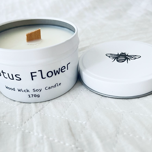 Lotus Flower Travel Candle