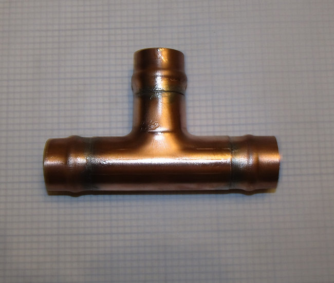 """1""""  Copper Flanged TEE Hose Coupling"""