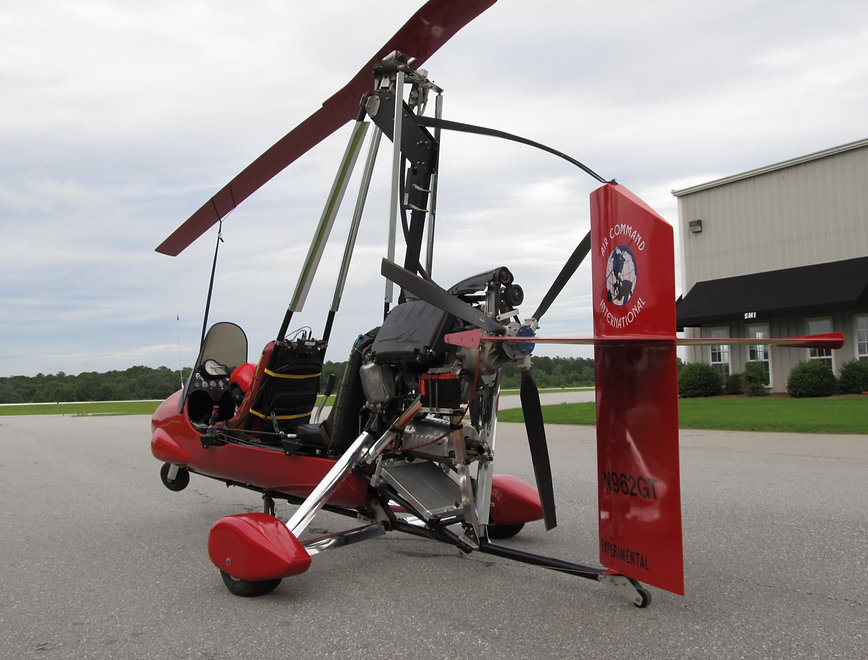 World's first ever Yamaha Genesis RX1 snowmobile engine used for aircraft is mounted on Air Command Gyrocoper built and owned by GT Mills of Mohawk Aero