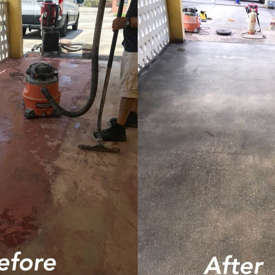 Concrete Polishing Before - After