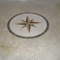 Marble Medallon Before