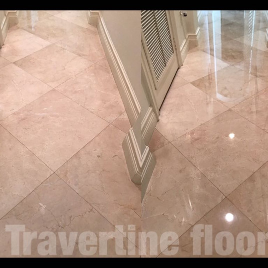 Travertine Floor Before - After