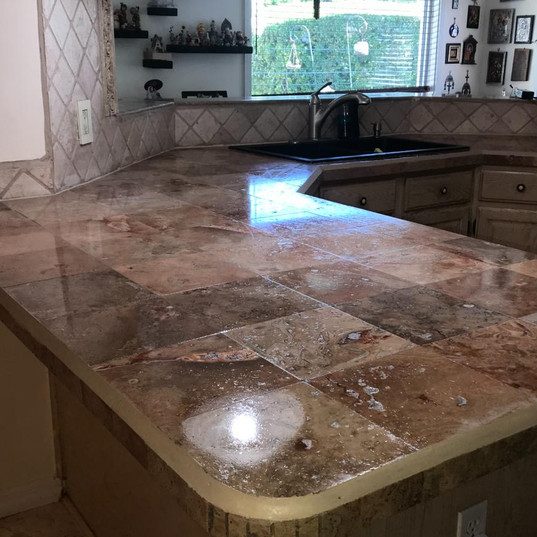 Kitchen marble countertop After