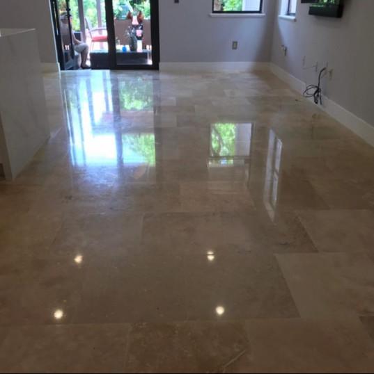 Travertine Floor After