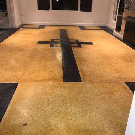 Terrazo Floor Before