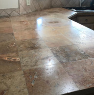 Kitchen marble countertop Before