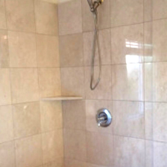 Shower Marble Walls - After