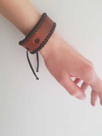 A bracelet from an old belt!
