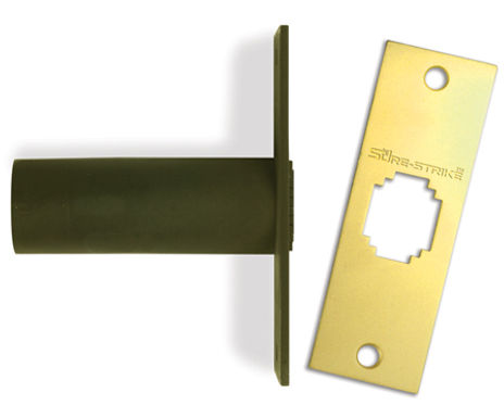 Home hardware for home security doors regardless of door knob and deadbolt