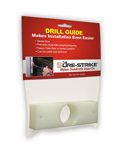 DRILL GUIDE & TEMPLATE FOR EASY INSTALLATION