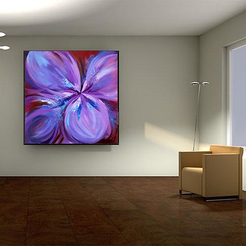 Purple Gladiolus- original oil on canvas