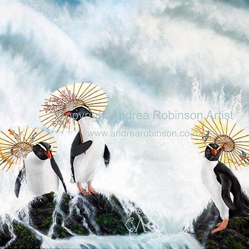 Surfs Up - original oil on canvas