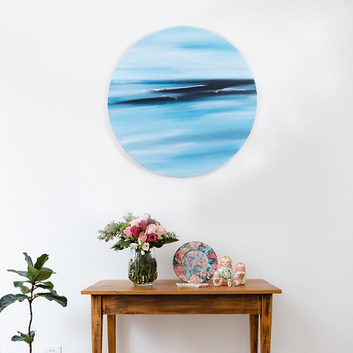 "Fading Light- original oil on 20"" (508 mm) round canvas"