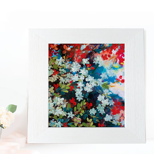 """Floral in moonlight - 5 x 5"""" giclee prints on Ilford premium paper"""