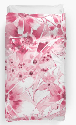 Duvet Cover - Pink Daisy