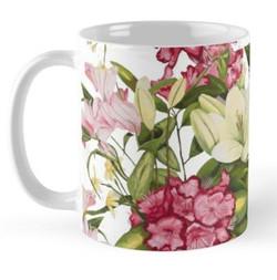 Mug - lillies pattern