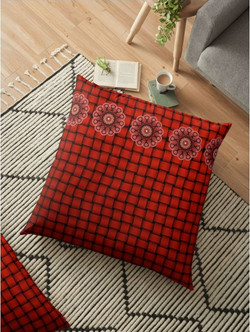 In the red - floor pillow