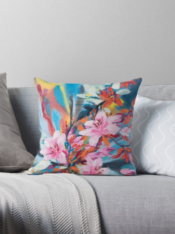 Throw Pillow Floral Fantasy