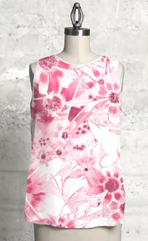 Pink Daisy Sleevless top