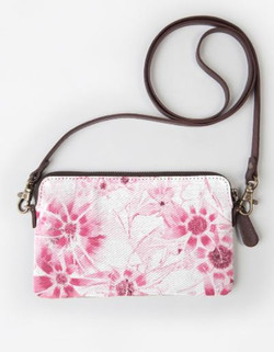 Pink Daisy Stmt Clutch
