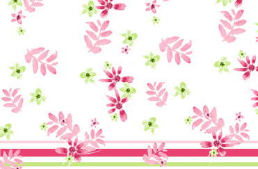 Pink Daisy and stripe