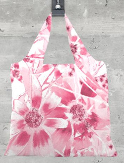 Pink Daisy Foldaway tote