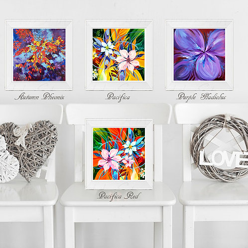 """Floral Abstractions - 12""""x12"""" Giclee prints on Ilford premium paper"""