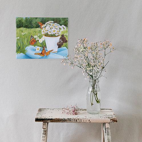 "Monarch - original oil on canvas - 10 x 8"""