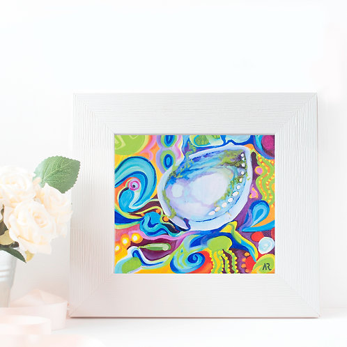 "Paua - 5 x 5"" giclee prints on Ilford premium paper"