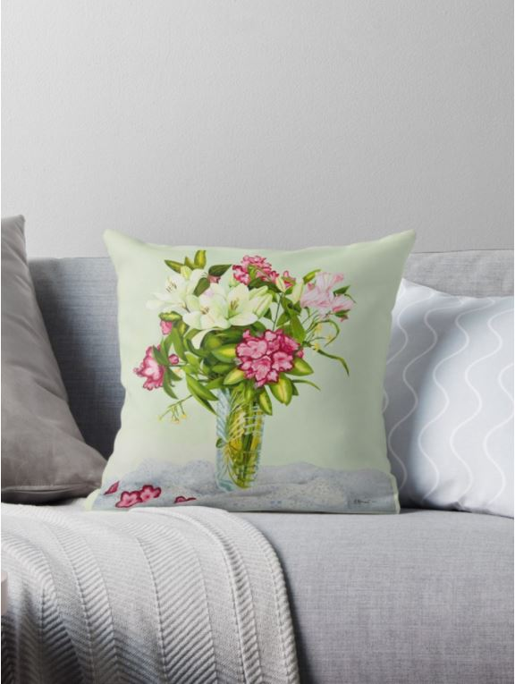 Lillies pillow