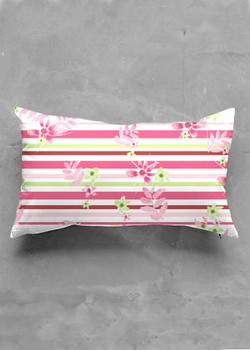 Pretty in pink oblong pillow