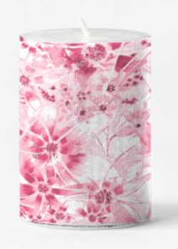 Pink Daisy Candle