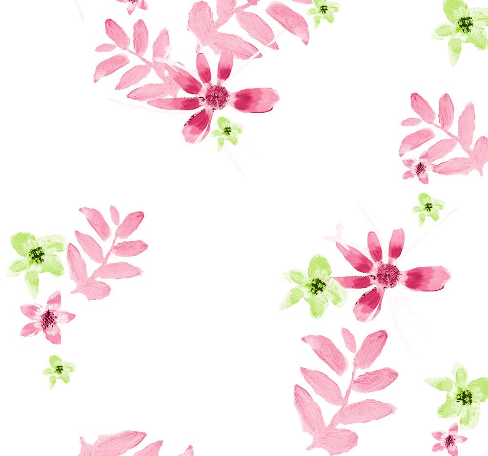 Pink Daisy contrast pattern