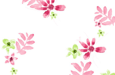 Pink Daisy contrast pattern