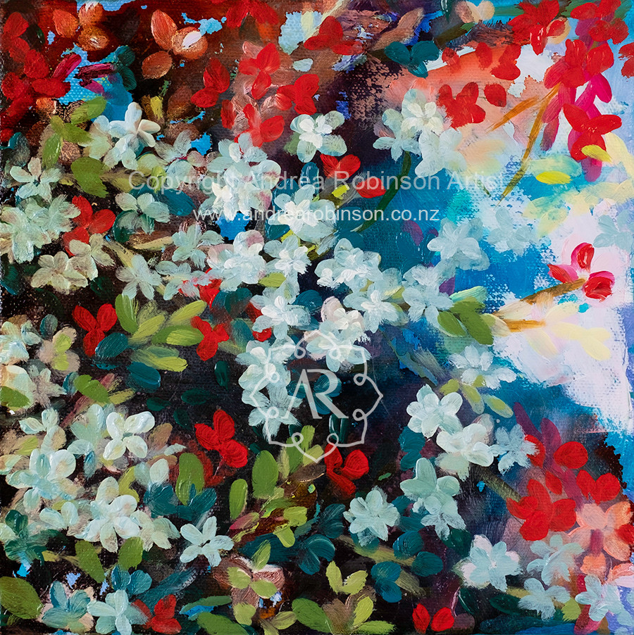 Floral in moonlight (sold)
