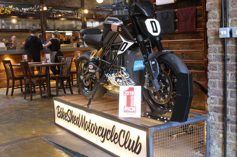Zero Motorcycles Bike Shed display